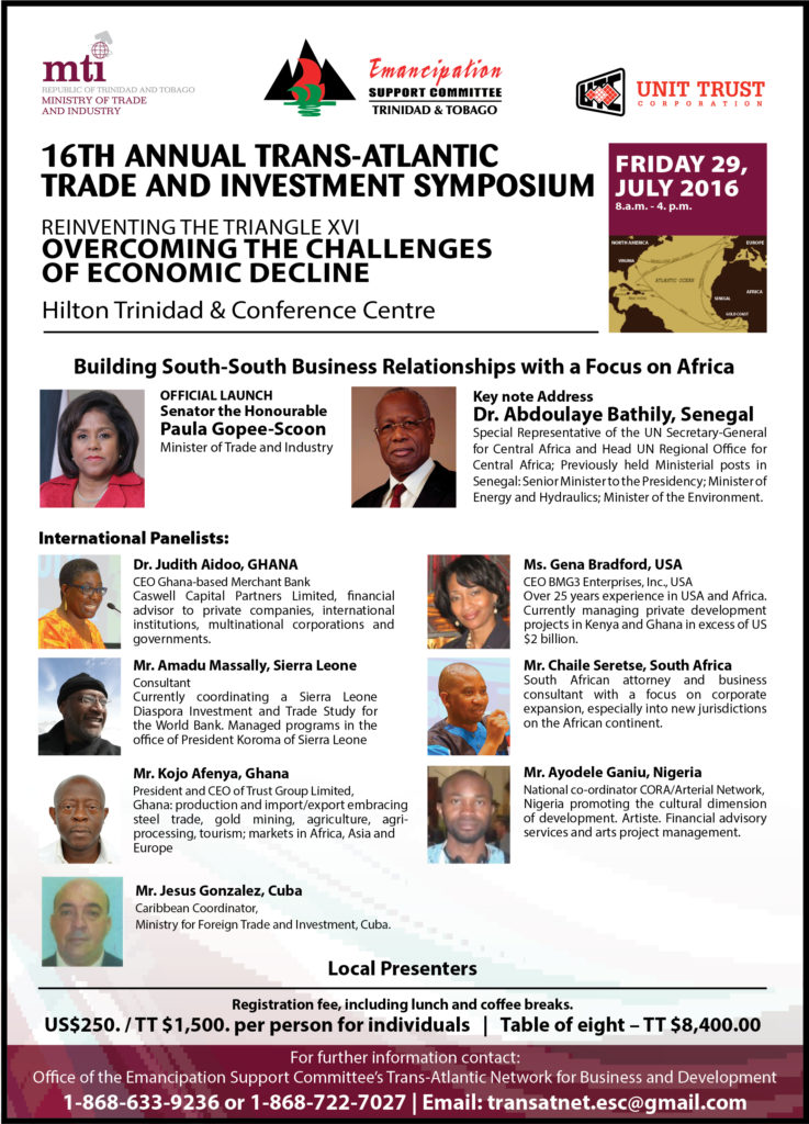 Trans-Atlantic Business Symposium | Emancipation Support Committee